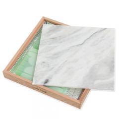 ひえひえクールすぽっと 天然大理石40×40 マーブル+ウッドフレームセット(保冷剤付)+交換用保冷剤4個 ひんやり 沖縄別途送料