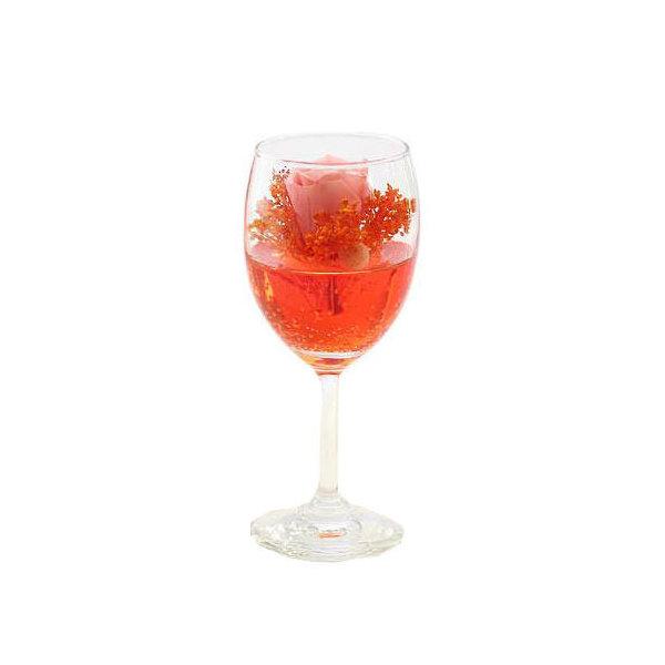 (観葉植物)プリザーブドフラワー ~カクテルグラス シェリー オレンジ~