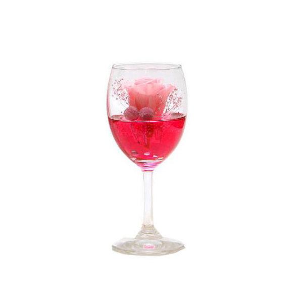 (観葉植物)プリザーブドフラワー ~カクテルグラス シェリー ピンク~