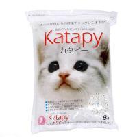 猫砂 獣医さんも使っている白い紙砂 カタピー 8L 5袋入り 猫砂 紙 燃やせる お一人様1点限り