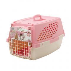 ペットスイート M ピーチ(中敷マット付) 犬 猫用キャリーバッグ キャリーケース クレート(7kgまで) お一人様3点限り