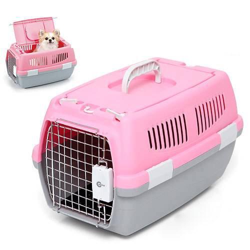 37bcdef6b756 LOHACO - マルカン 2ドアキャリー 小型犬・猫用 ピンク 犬 猫 キャリー ...