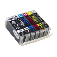 送料無料 BCI-351XL+350XL/6MP キヤノン互換インクカートリッジ Canon BCI-350+351シリーズ 6色セット増量版