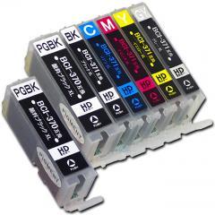 送料無料 BCI-371XL+370XL/6MP+BCI-370XLPGBK キヤノン互換インクカートリッジ Canon BCI-370+371シリーズ 6色セット増量版+顔料ブラック BCI-371+370/6MP+BCI-370PGBK増量版