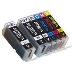 送料無料 BCI-381XL+380XL/5MP キヤノン互換インクカートリッジ Canon BCI-380+381シリーズ 5色マルチパック+黒1本 (BCI-381+380/5MPの増量版)
