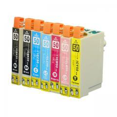 送料無料 IC6CL50+ICBK エプソン互換インクカートリッジ EPSON互換 IC50シリーズ 6色セット+ブラック