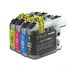 送料無料 LC110-4PK ブラザー互換インクカートリッジ brother LC110シリーズ 4色セット