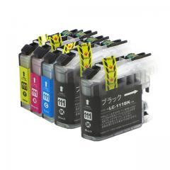 送料無料 LC111-4PK+LC111BK ブラザー互換インクカートリッジ brother LC111シリーズ 4色セット+ブラック