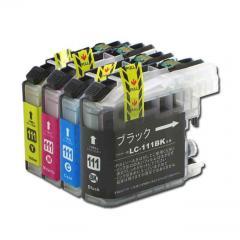 送料無料 LC111-4PK ブラザー互換インクカートリッジ brother LC111シリーズ 4色セット