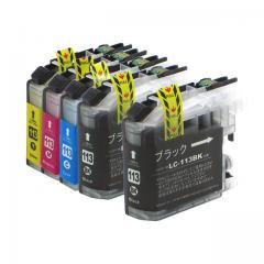 送料無料 LC113-4PK+LC113BK ブラザー互換インクカートリッジ brother LC113シリーズ 4色セット+ブラック1本