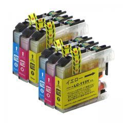 送料無料 LC113C+LC113M+LC113Y ブラザー互換インクカートリッジ brother LC113シリーズ シアン・マゼンタ・イエロー3本セット×2セット