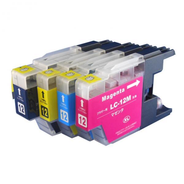 送料無料 LC12-4PK ブラザー互換インクカートリッジ brother LC12シリーズ 4色セット