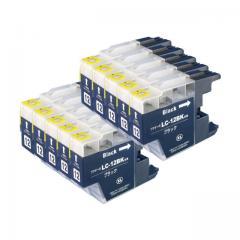 送料無料 LC12BK ブラザー互換インクカートリッジ brother LC12シリーズ ブラック×10セット