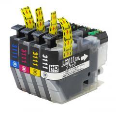 送料無料 LC3111-4PK ブラザー互換インクカートリッジ brother LC3111シリーズ 4色セット