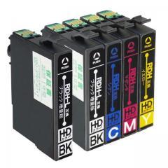 送料無料 RDH-4CL エプソン互換インクカートリッジ EPSON互換 RDHシリーズ 4色セット+黒1本