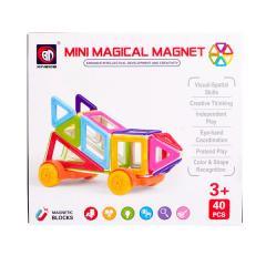 ミニマジカル マグネット40ピース 車輪付き Magical Magnet