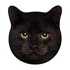 コンシェルジュ(CONCIERGE) リアルモチーフタオル ネコ BLACK CAT 黒猫 1432502