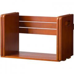 ブックスタンド 本立て スライド 木製 おしゃれ 卓上 本棚 シェルフ マガジンラック スライドブックスタンド 【送料無料】
