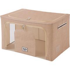 収納ボックス 積み重ねできる 窓付収納ボックス 50×40×28 衣類収納 小物収納 収納 スタッキング 衣装ケース フタ付き マルチケース 折りたたみ 窓付き  【送料無料】
