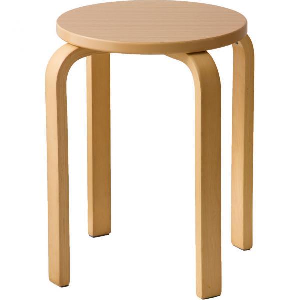 木製 曲脚イス 椅子 丸いす 丸椅子 丸イス スツール スタッキングチェアー シンプル ウッド リビング オフィス 【送料無料】