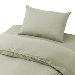 布団カバー 3点セット ベッドタイプ/ペールグリーン