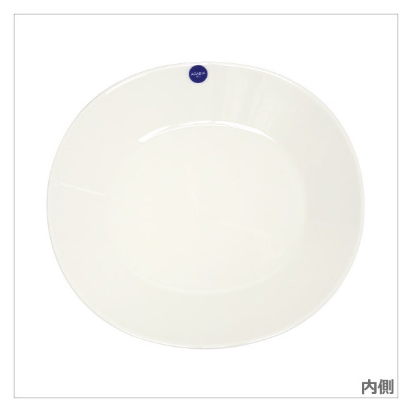 アラビア カラーズ(Colors) ホワイト オーバルプレート 25cm Arabia
