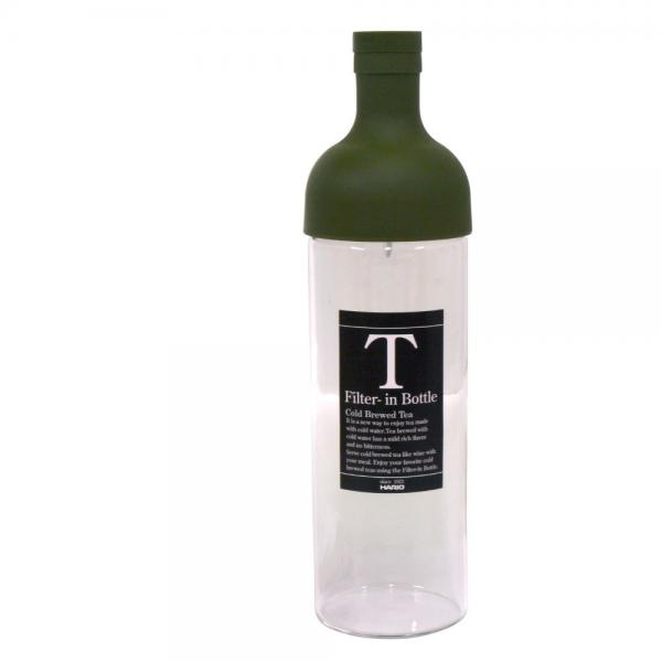 ハリオ フィルターインボトル 750ml 水出し お茶ボトル オリーブグリーン HARIO