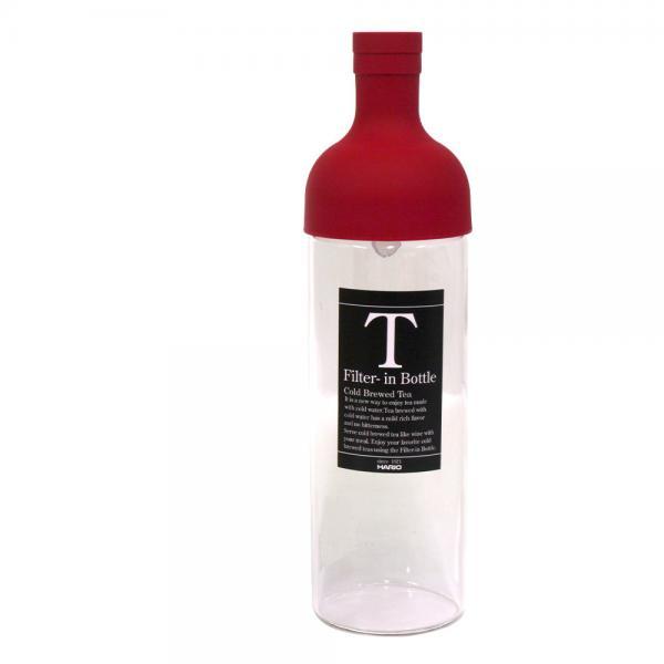 10%OFFクーポン対象商品 ハリオ フィルターインボトル 750ml 水出し お茶ボトル レッド HARIO クーポンコード:KZUZN2T