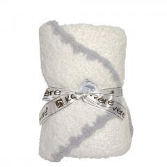 10%OFFクーポン対象商品 カシウエア ブランケット ベビーブランケット &キャップ Baby blanket & cap White with Blue Trim kashwere クーポンコード:KZUZN2T
