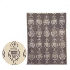 クリッパン コットン&シュニール織り ブランケット 140x180 Owl サンド KLIPPAN