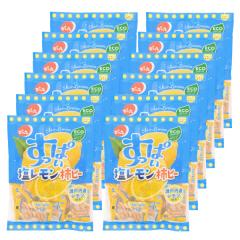 【春夏限定】でん六 小袋塩レモン柿ピー 120g×12袋