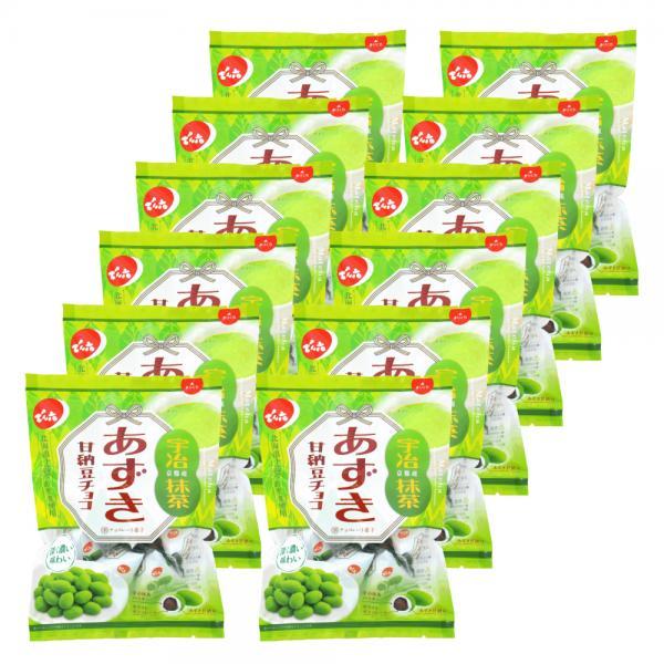 でん六 あずき甘納豆チョコ(抹茶) 66g×12袋
