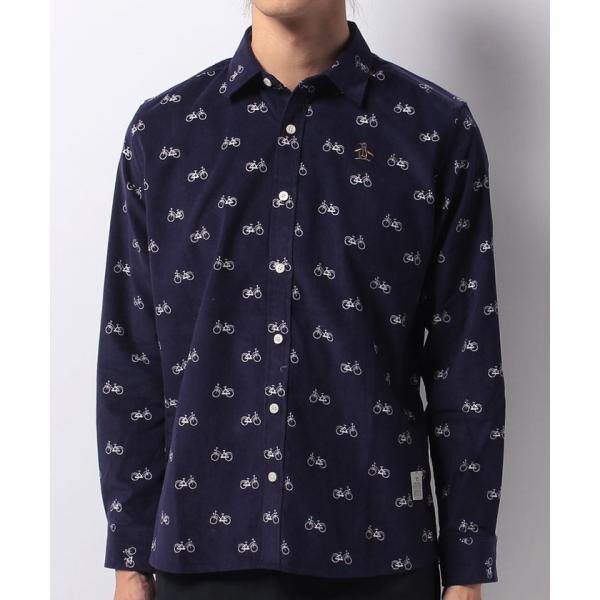 【SALE】Munsingwear(マンシングウェア)Andover Fabrics長袖布帛シャツ(17FW)GWMK300※返品交換不可