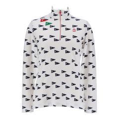 Munsingwear(マンシングウェア)フラッグ柄ジップアップ長袖シャツ(18FW)MGWMJB14