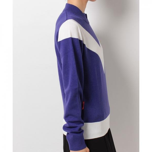 【SALE】温度緩和ハイネックV字デザインセーター(17FW)※返品交換不可