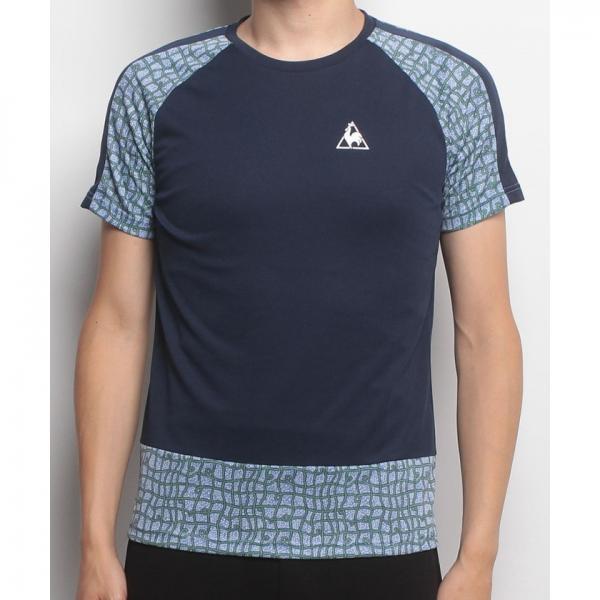 【SALE】le coq sportif(ルコックスポルティフ)リバティー半袖シャツ(17FW)QT-011173※返品交換不可※