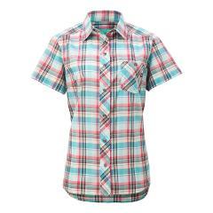 【SALE】Marmot(マーモット)W's QD Check H/S Shirt / ウィメンズキューディーチェックハーフスリーブシャツ(19SS)TOWNJA76※返品交換不可※