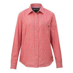 【SALE】Marmot(マーモット)W's QD Gingham L/S Shirt / ウィメンズキューディーギンガムロングスリーブシャツ(19SS)TOWNJB74※返品交換不可※