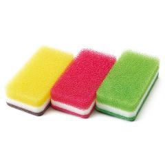 台所用スポンジ 3色セット 抗菌タイプ(カラー) ダスキン スポンジ キッチン【答えて当てよう!キャンペーン対象商品】