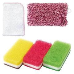 送料無料 台所とお風呂のお手入れセット ダスキン 台所 浴室 キッチン スポンジ レンジ 掃除 抗菌