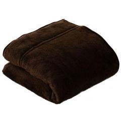 送料無料 毛布 あったか 2枚合わせ毛布 シングルサイズ ブラウン もうふ ブランケット 吸湿発熱 ヒートウォーム マイクロファイバー エムールヒート ボリューム 防寒 もこもこ わた入り 冬用 ぬくぬく 防ダニ 洗える