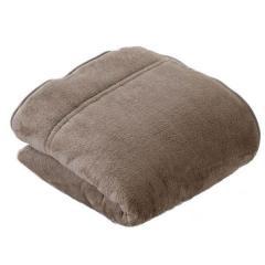送料無料 毛布 あったか 2枚合わせ毛布 シングルサイズ グレージュ もうふ ブランケット 吸湿発熱 ヒートウォーム マイクロファイバー エムールヒート ボリューム 防寒 もこもこ わた入り 冬用 ぬくぬく 防ダニ 洗える