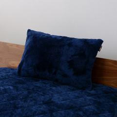 送料無料 枕カバー ピローケース ネイビー 43×63cm 2枚組 洗える あったか 暖かい 吸湿発熱 冬 冬用 防寒 ピロケース まくらカバー ヒートウォーム マイクロファイバー ボリューム ぬくぬく もこもこ ダニ防止 洗濯機可