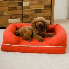 neDOGko (ねどっこ) 送料無料 3Dベッド Mサイズ シニアタイプ 高反発ウレタン 綿100% ペットベッド ワンちゃん 犬 猫 通気性 丸洗い 立ち上がり 介護 カドラー サニーオレンジ