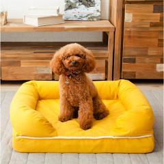 neDOGko (ねどっこ) 送料無料 3Dベッド Mサイズ シニアタイプ 高反発ウレタン 綿100% ペットベッド ワンちゃん 犬 猫 通気性 丸洗い 立ち上がり 介護 カドラー マスタードイエロー