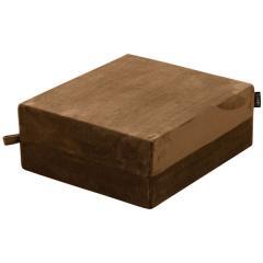 クッション リビング 座布団 座椅子 フロアクッション 高反発ウレタン 長方形 46cm×40cm ブラウン