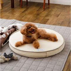 neDOGko (ねどっこ) 送料無料 ラウンドベッド XLサイズ ペットベッド ドッグベッド フラットベッド マット 防水 カバーを外して洗える カスタマイズ 小型犬 中型犬 綿100% ウレタン 犬 猫 頑丈 シニア 洗える 立ち上がり インテリア クリームアイボリー