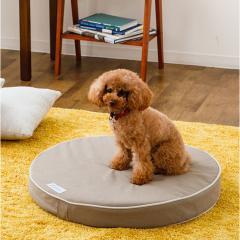 アウトレット 20%OFF neDOGko (ねどっこ) 送料無料 ラウンドベッド Lサイズ ペットベッド ドッグベッド フラットベッド マット 防水 カバーを外して洗える カスタマイズ 小型犬 中型犬 綿100% ウレタン 犬 猫 頑丈 シニア 洗える 立ち上がり インテリア スモーキーグレー