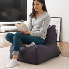 送料無料 ビーズクッション ソファ 一人掛け 日本製 コンパクト 座椅子 フロアソファ ブラック