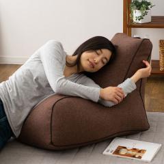 送料無料 ビーズクッション ソファ 一人掛け 日本製 コンパクト 座椅子 フロアソファ ブラウン